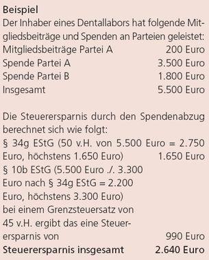 Steuerliche Abzugsfähigkeit von Spenden | Management | ZTM-aktuell.de